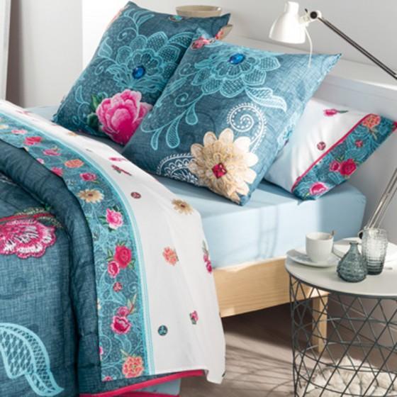Sabanas de flores para cama Bohemy de 90, 105, 135, 150 o 180 cm