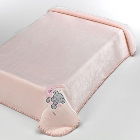 Manta Infantil BABY LUZ Textils Mora rosa
