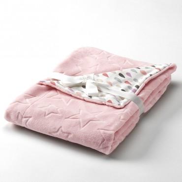 Manta Infantil BABY GALAXY Textils Mora rosa