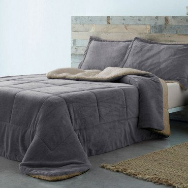 Edredón Conforter Sherpa BASIC gris Barceló Hogar