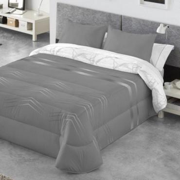 Edredón Comforter reversible Kabely ANELKA Catotex gris anverso