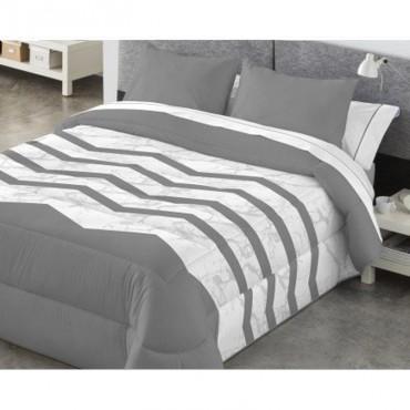 Edredón Comforter reversible Kabely ANELKA Catotex gris reverso
