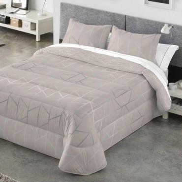 Edredón Comforter Reversible Kabely COLBY Catotex beige anverso