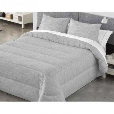 Edredón Comforter Reversible Kabely COLBY Catotex gris anverso