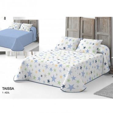 Colcha Bouti Reversible Serena TAISSA Catotex azul