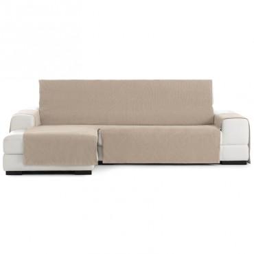 Funda Cubre Sofá Chaise Longue LOIRA PROTECT Eysa beige 01
