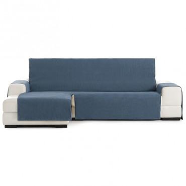 Funda Cubre Sofá Chaise Longue LOIRA PROTECT Eysa azul