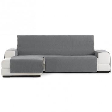 Funda Cubre Sofá Chaise Longue LOIRA PROTECT Eysa gris