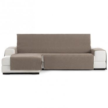 Funda Cubre Sofá Chaise Longue LOIRA PROTECT Eysa beige 11