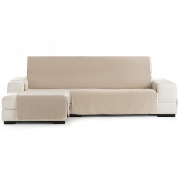 Funda Cubre Sofá Chaise Longue SOMME PROTECT Eysa beige 11