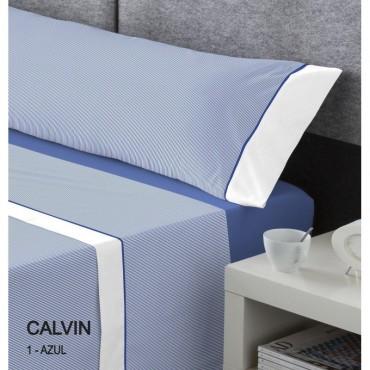 Juego de Sábanas Serena Cotton Luxe CALVIN Catotex azul
