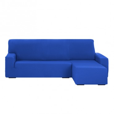 Funda de Sofá Chaise Longue Brazo Corto TUNEZ Azul eléctrico