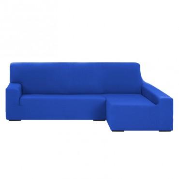 Funda de Sofá Chaise Longue Brazo Largo TUNEZ Azul eléctrico