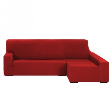 Funda de Sofá Chaise Longue Brazo Largo TUNEZ Rojo