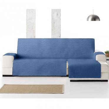Funda Cubre Sofá Chaise Longue OSLO PROTECT Eysa azul