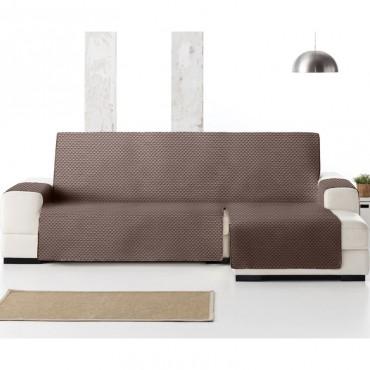 Funda Cubre Sofá Chaise Longue OSLO PROTECT Eysa marrón