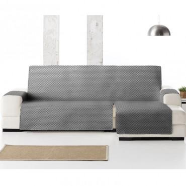 Funda Cubre Sofá Chaise Longue OSLO PROTECT Eysa gris