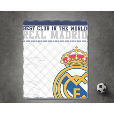 Plaid Coralina EMBLEMA Real Madrid