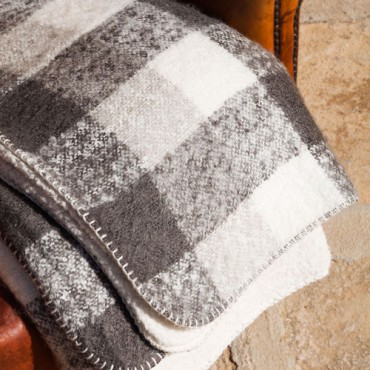 Manta Plaid Mohair Sherpa NEVADA Barceló Hogar