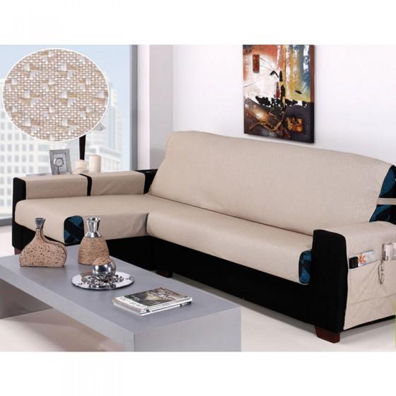 Funda Cubre Sofa de Chaise Longue TURIA Brazo Largo Drcha