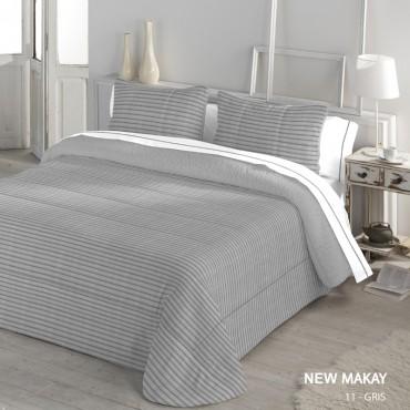 Edredón Comforter Serena Sherpa NEW MAKAY Catotex gris