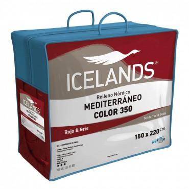 Relleno Nórdico MEDITERRÁNEO COLOR ROJO Icelands