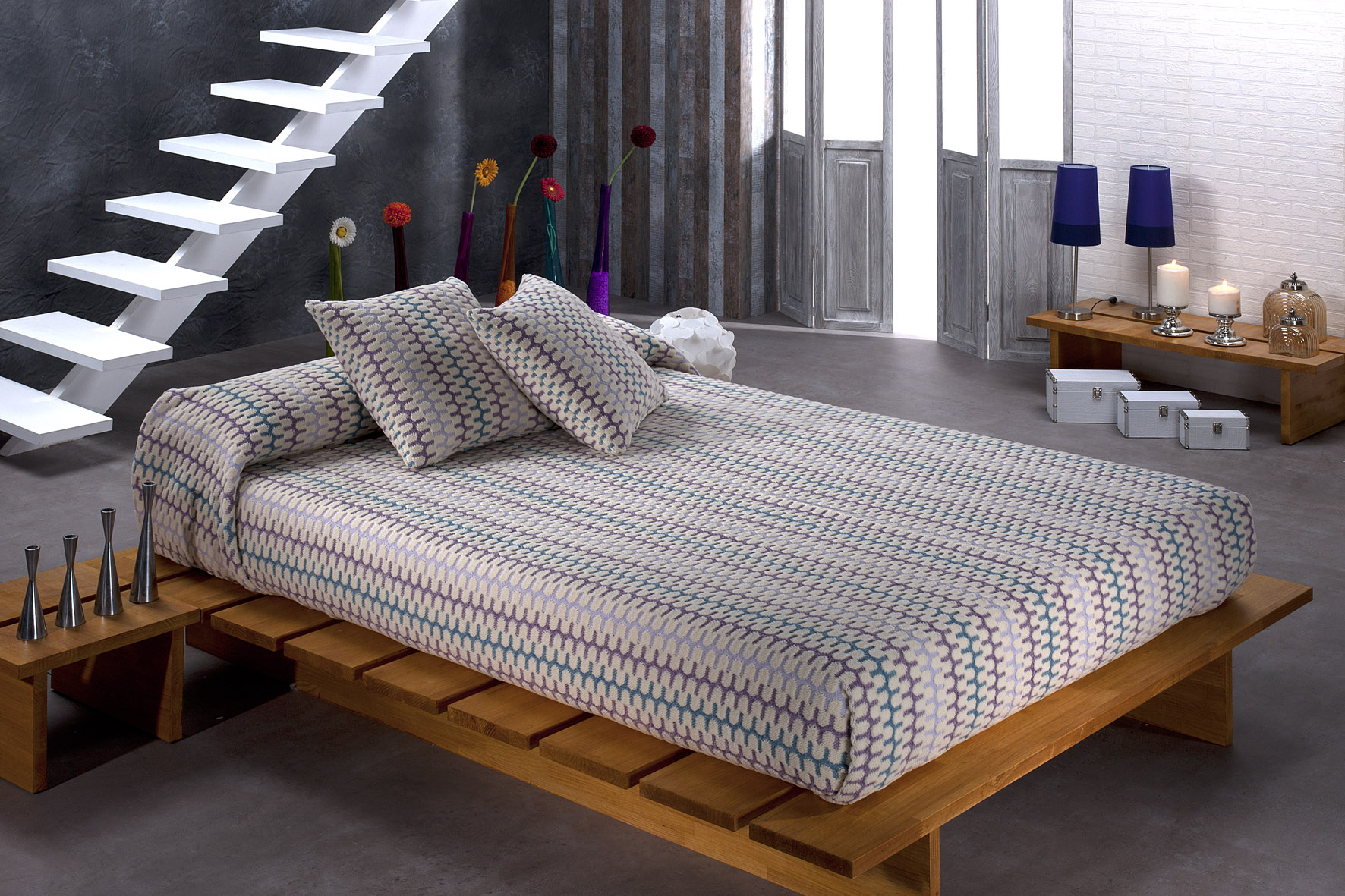 Colchas de cama textils mora colecci n 2013 colchas en for Cobertor cama