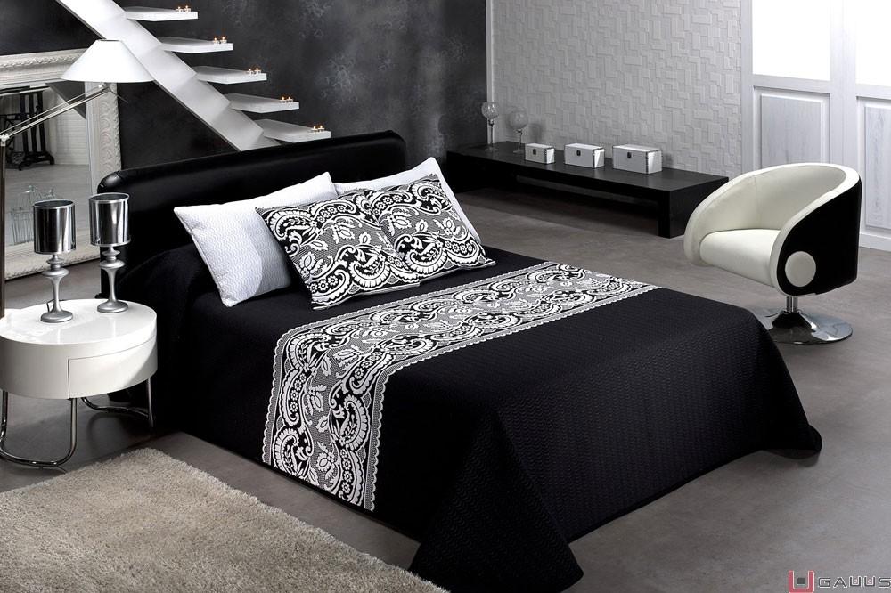 Decora tu habitaci n en blanco negro ropa de cama y for Cuarto negro con blanco
