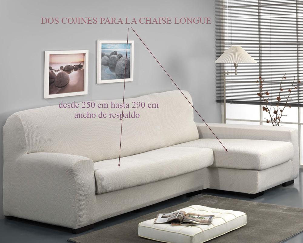 Funda para Sofá Chaise longue con cojín separado VIENA de Belmarti
