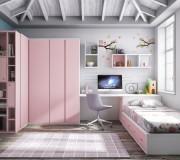dormitorio moderno con cama nido estraible