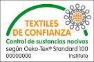 Sello y certificado de Textiles de confianza